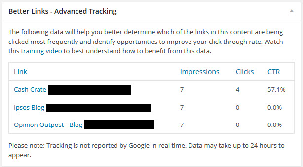 better links advanced tracking